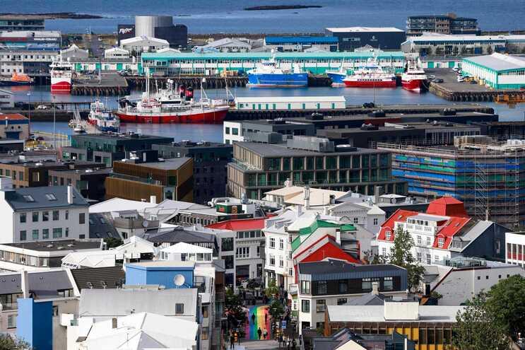 Imagem da capital da Islândia, Reiquiavique