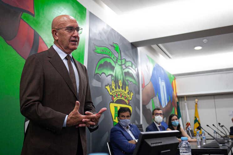 O presidente da A. F. Porto, José Manuel Neves