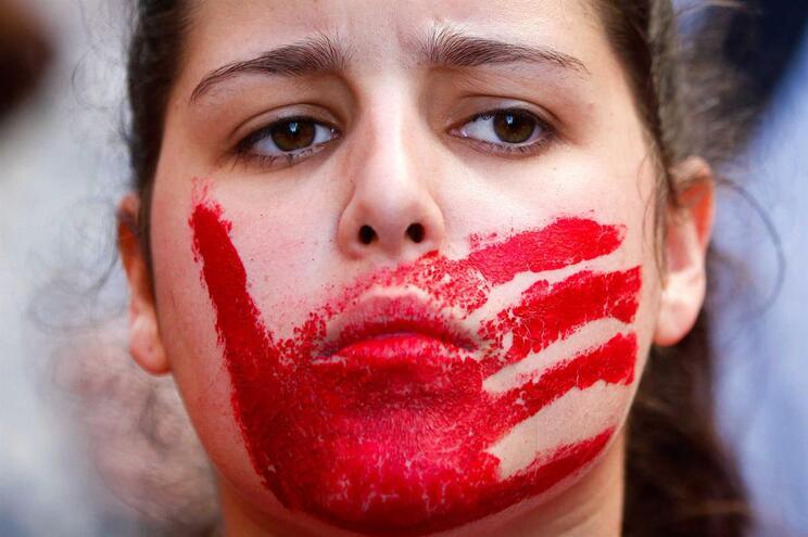 Manifestação contra a violência sobre as mulheres, 9 de março, Lisboa