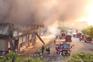 Incêndio de grandes dimensões consumiu centro empresarial em Castelo de Paiva