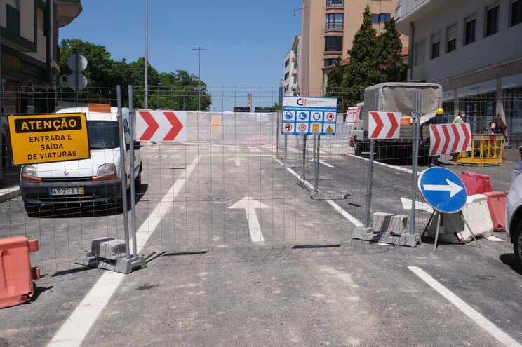Obras na Avenida Fernão de Magalhães, no Porto