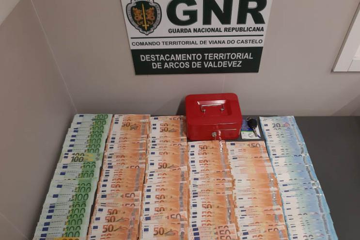 Dinheiro recuperado pela GNR