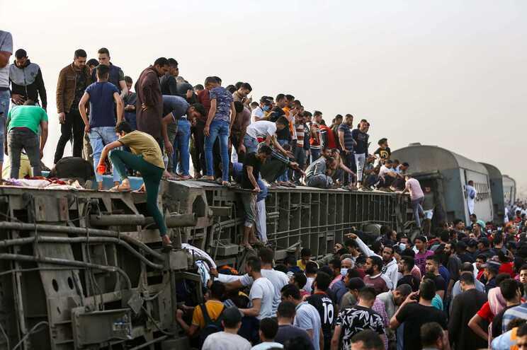 O comboio dirigia-se para a cidade de Mansoura, no Delta do Nilo, tendo partido da capital egípcia