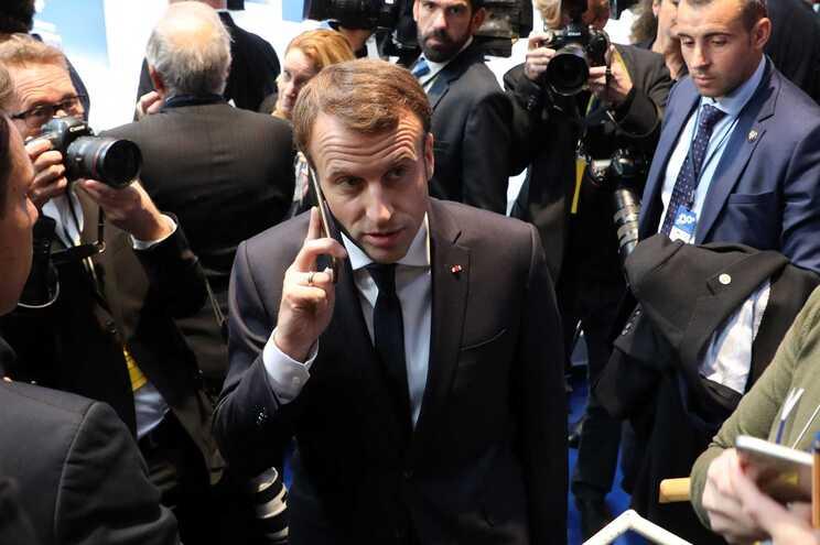 O presidente da República francês, Emmanuel Macron