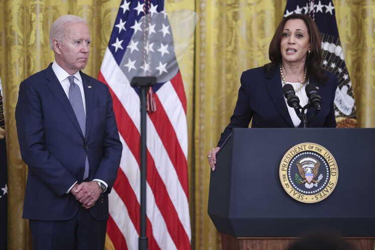O presidente dos EUA Joe Biden e a vice presidente Kamala Harris