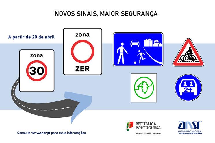 Novos sinais de trânsito em vigor na próxima semana