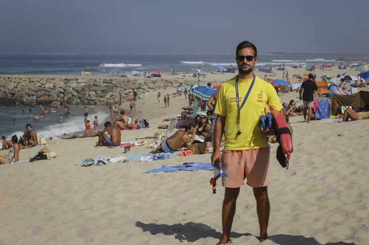 Nélson Santos, nadador-salvador em Ílhavo