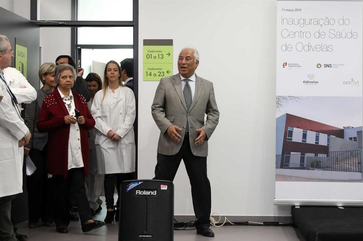 António Costa no Centro de Saúde de Odivelas