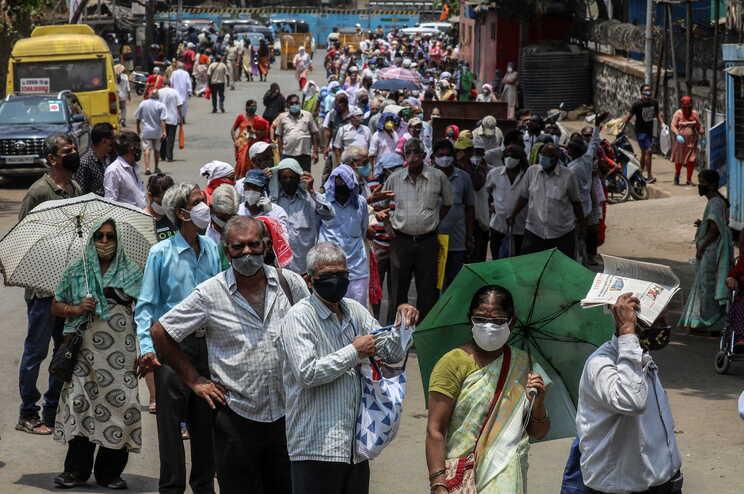 A Índia é dos países mais afetados pela pandemia