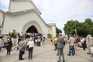 Velório de Maria João Abreu na Igreja São João de Deus, na praça de Londres, Lisboa