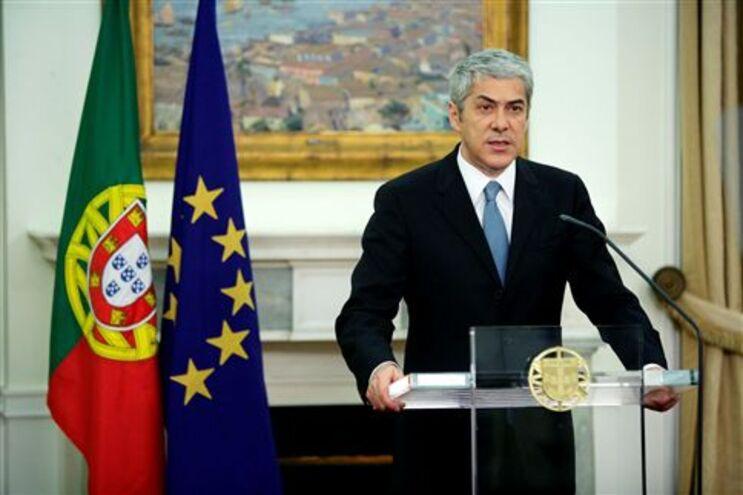 Declaração da Sócrates a confirmar o pedido de ajuda externa de Portugal