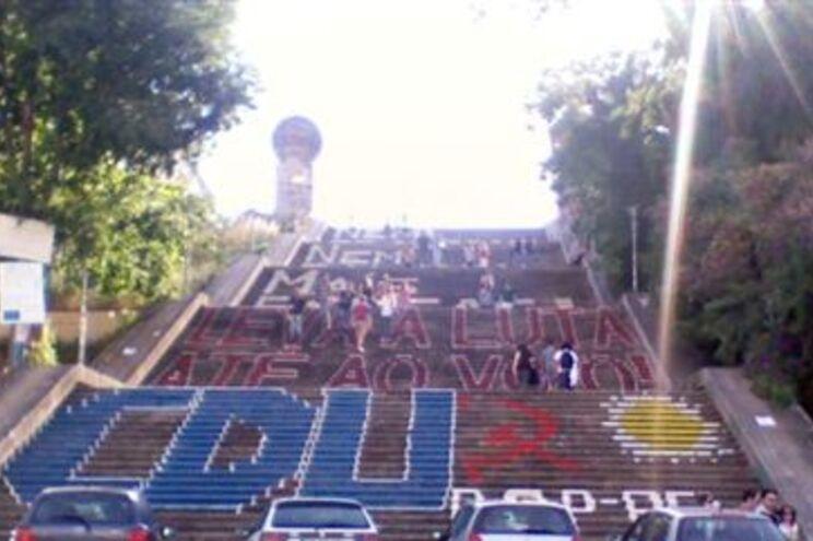 Vandalismo nas Escadas Monumentais de Coimbra