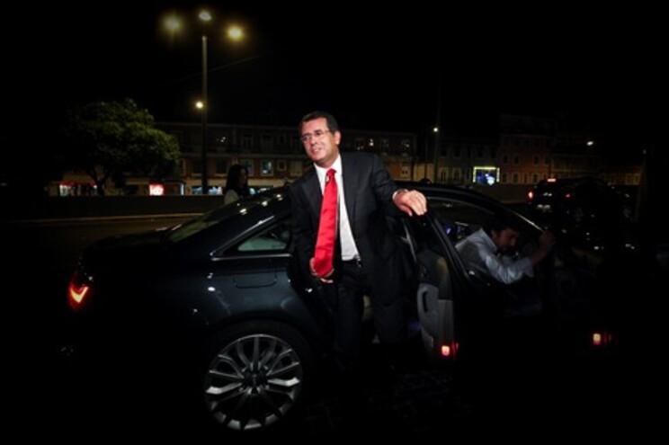 A chegada de Seguro à sede nacional do PS na noite deste sábado