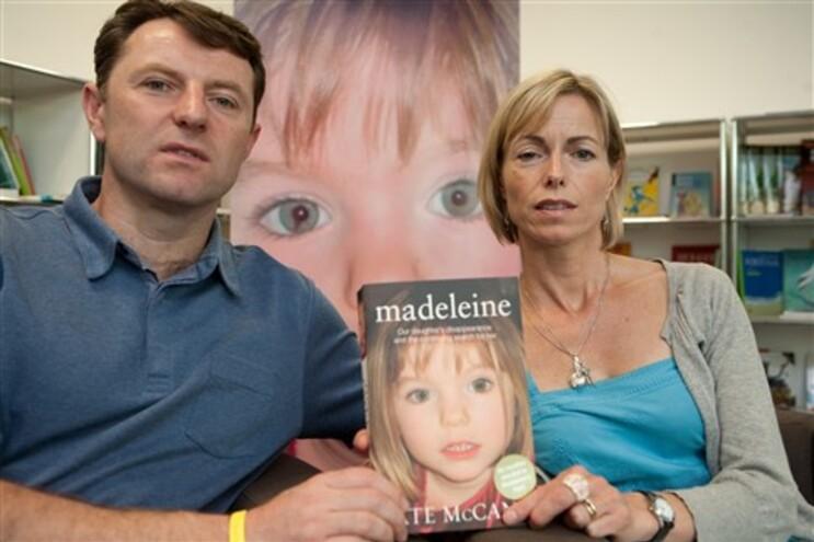 Jerry e Kate contaram em livro a sua versão sobre o desaparecimento da filha Madeleine