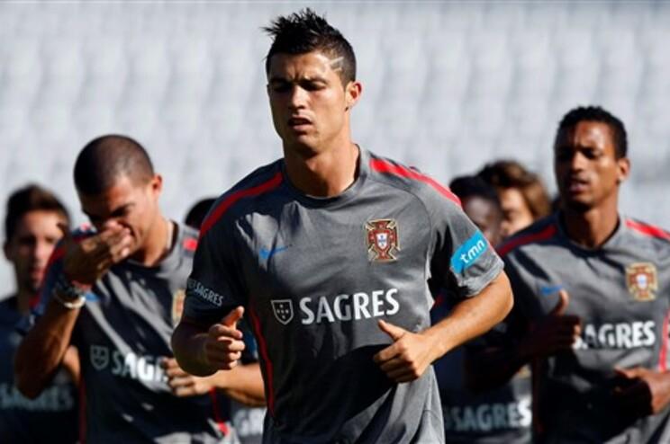 Ronaldo marcou no treino desta terça-feira de manhã