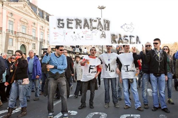 """Em Lisboa, a """"geração à rasca"""" saiu à rua a 12 de Março último"""