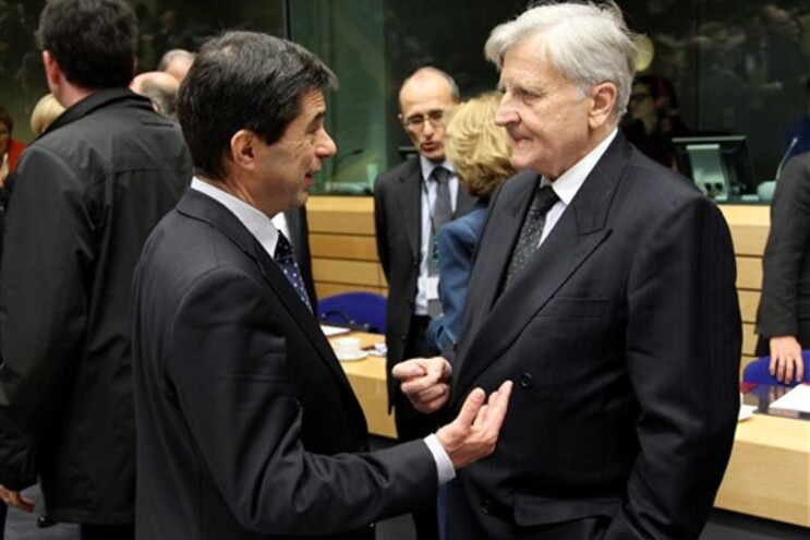 Vítor Gaspar com Jean-Claude Trichet, presidente do Banco Central Europeu