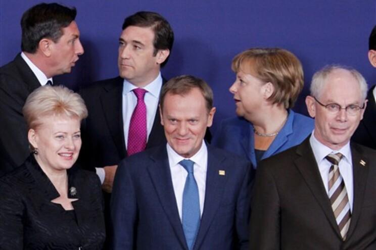 Passos Coelho entre líderes europeus em Bruxelas