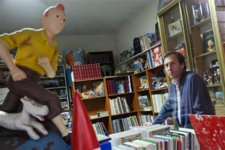 Loja do Porto inspirada em Tintin