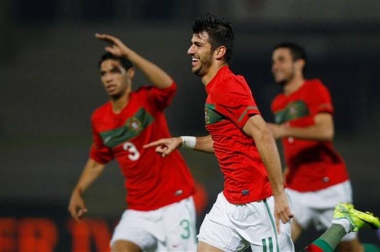 Nélson Oliveira festeja golo de Portugal
