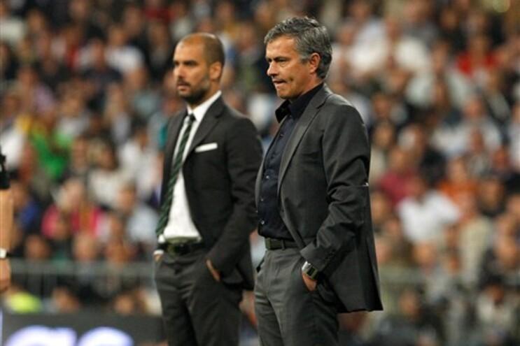 Guardiola e Mourinho, lado a lado