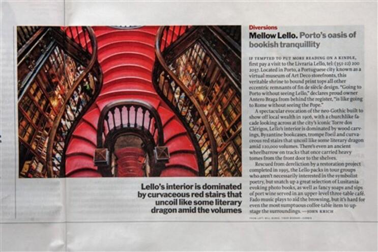 """O artigo da """"Time"""" sobre a livraria Lello"""