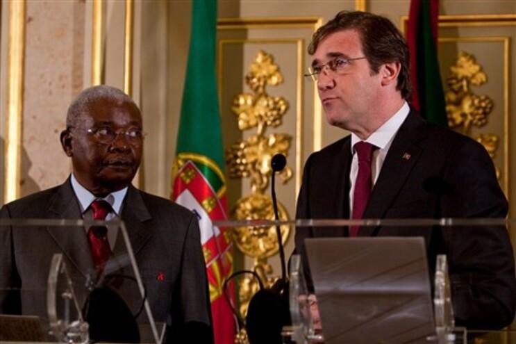 Armando Guebuza e Pedro Passo Coelho