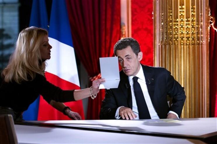 Sarkozy antes intervenção televisiva