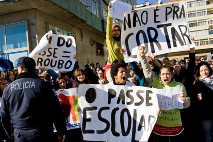 Protestos na escola António Arroio