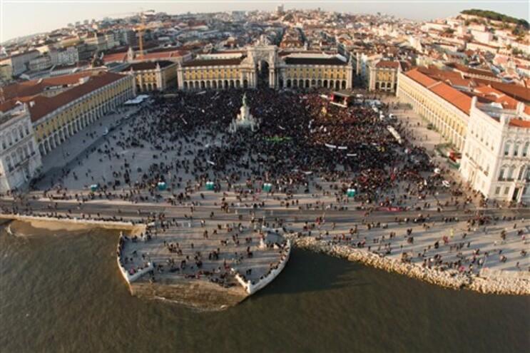 Manifestação da CGTP, sábado passado, no Terreiro do Paço, em Lisboa