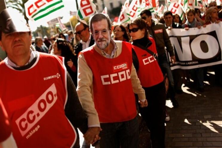 Protestos em 60 cidades espanholas contra cortes do Governo