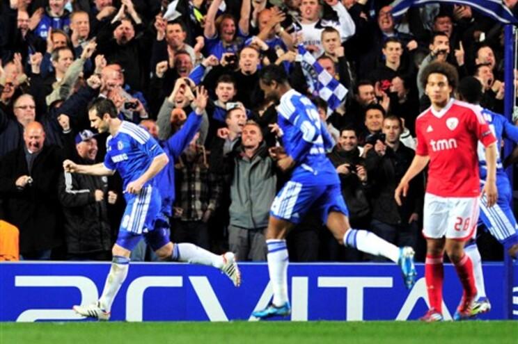 Lampard marcou o primeiro do Chelsea, de grande penalidade