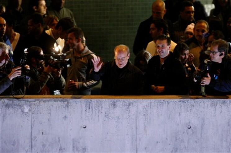 Pinto da Costa ao lado do plantel na varanda do Estádio do Dragão