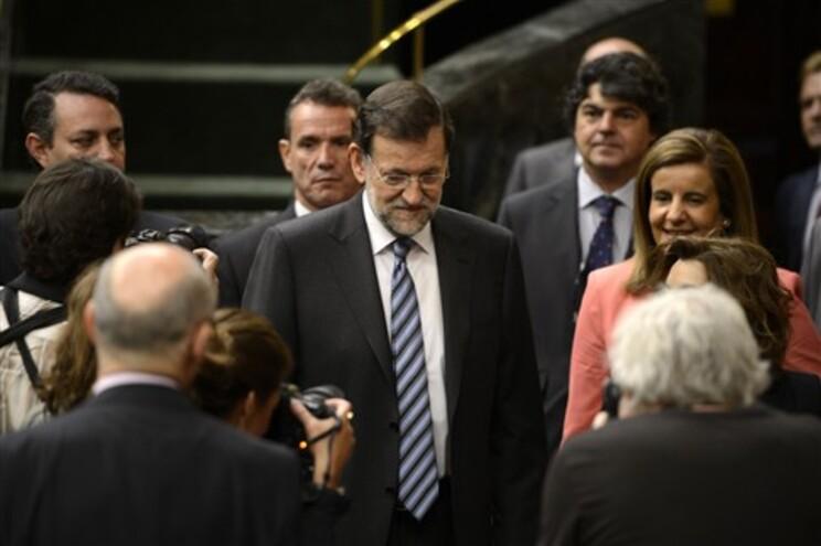 Mariano Rajoy, ao centro