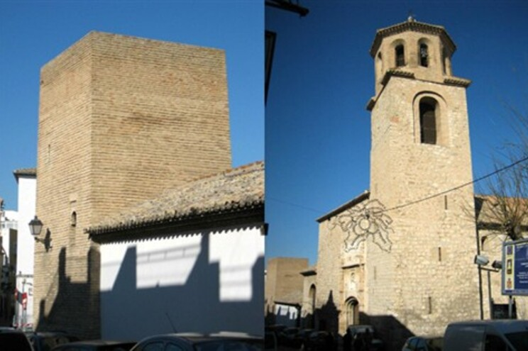 Duas perspetivas da Iglesia de la Magdalena