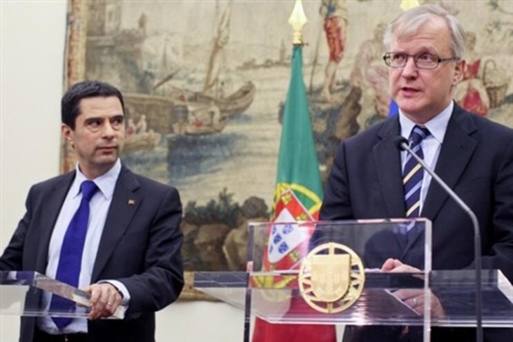 Ministro das Finanças Vitor Gaspar e Olli Rehn