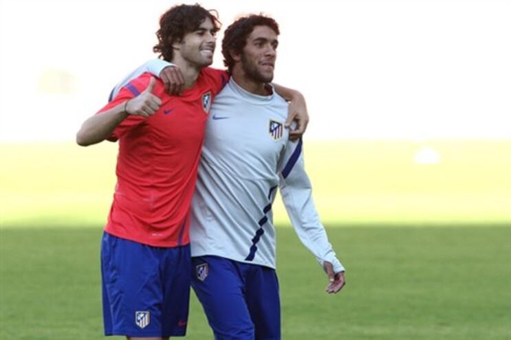 Tiago, à esquerda, e Sílvio, dois portugueses no Atlético de Madrid