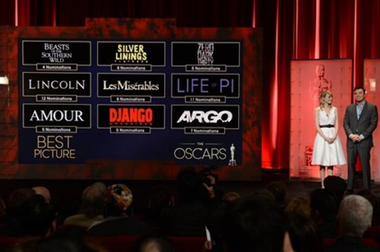 """""""Lincoln"""" e """"A vida de Pi"""" são os mais nomeados para os Oscares"""