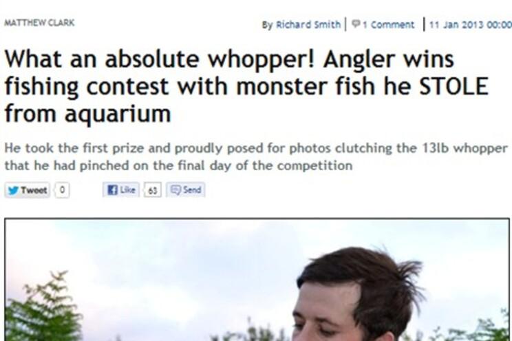"""Captura de imagem da página do jornal britânico """"The Mirror"""""""