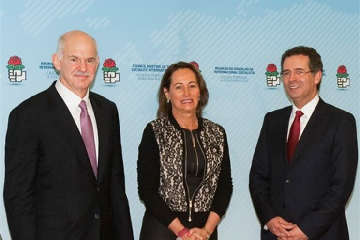 George Papandreou, Segolene Royal e António José Seguro