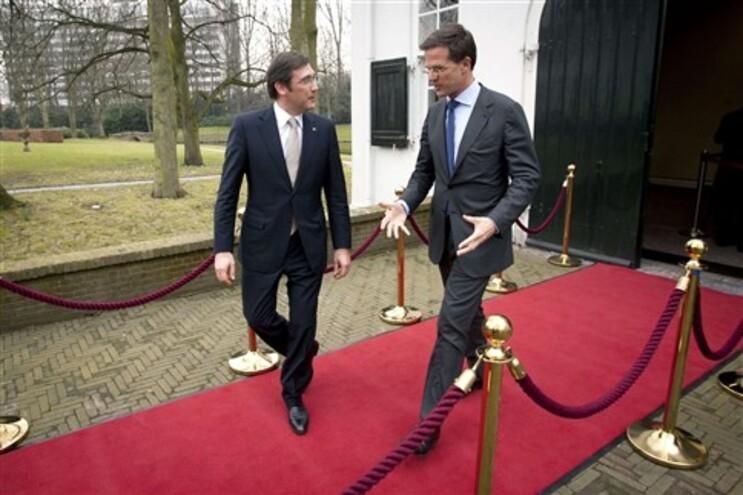 Passos Coelho com o homólogo holandês  Mark Rutte