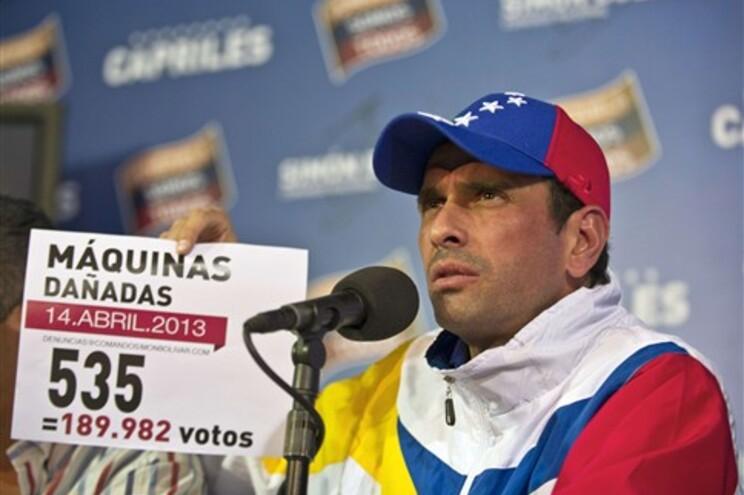 Líder da oposição venezuelana, Henrique Capriles