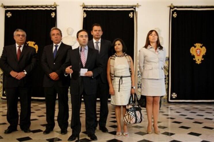 Delegação do PSD após audiência com Cavaco Silva