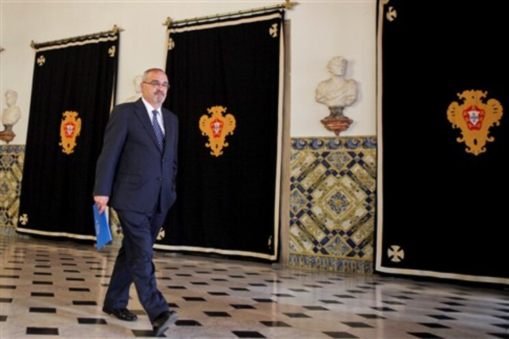 João Vieira Lopes à saída da audiência no Palácio de Belém