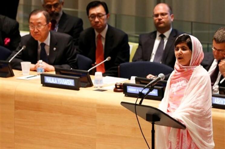 Malala discursou na ONU no seu 16º aniversário