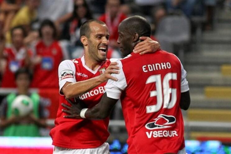 Rúben Micael e Edinho festejam o primeiro golo do Braga