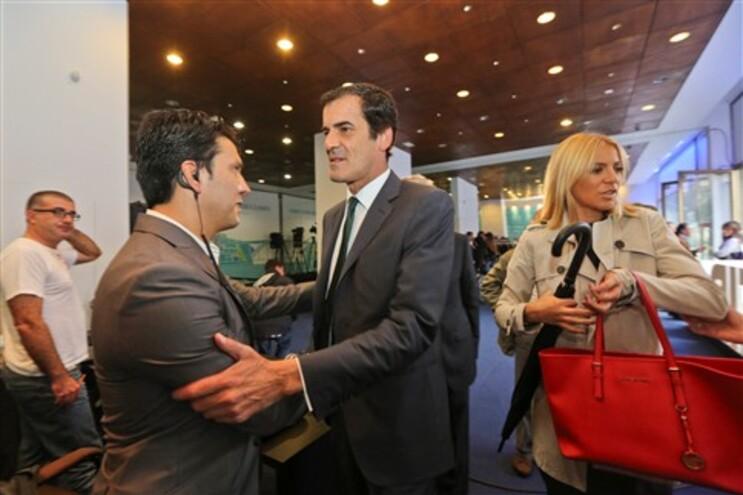 Rui Moreira na sede de campanha nesta noite de domingo