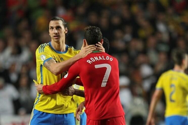Ibrahimovic e Cristiano Ronaldo