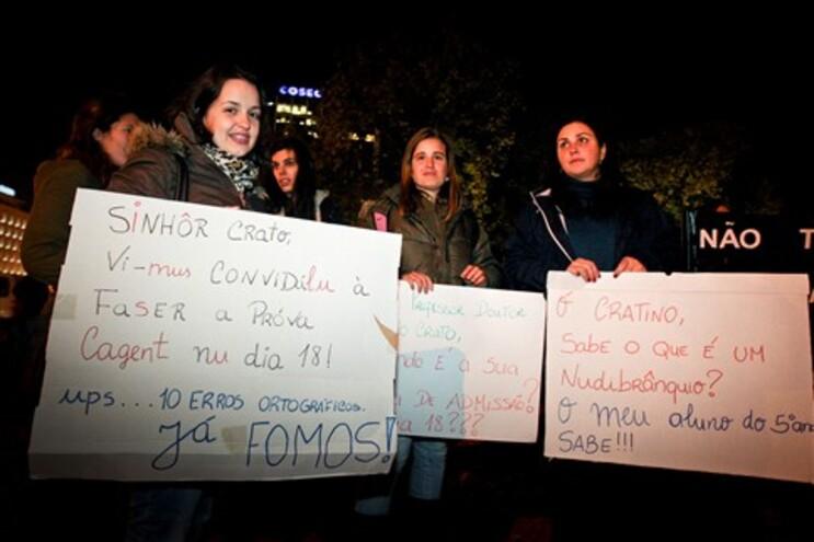 Professores manifestaram-se contra as provas de acesso à carreira docente