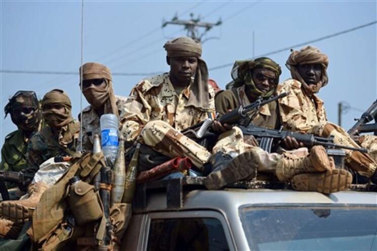 Tropas patrulham Bangui